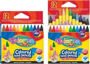 Värvilised pliiatsid COLORINO KIDS, 12 värvi, 57301PTR