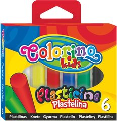 Plastiliin COLORINO, 6 värvi