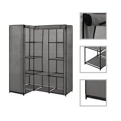 vidaXL nurgakapp, hall, 130 x 87 x 169 cm hind ja info | Kapid | kaup24.ee