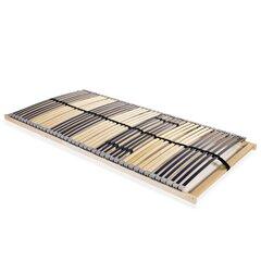 vidaXL lippidega voodi aluspõhi, 42 liistu, 7 piirkonda, 120 x 200 cm hind ja info | Voodipõhjad ja voodijalad | kaup24.ee