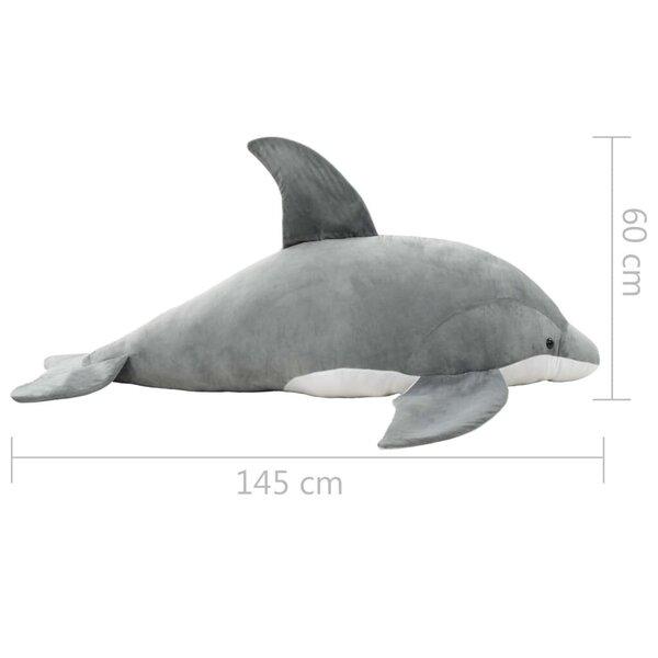 vidaXL delfiin, plüüs, hall soodsam