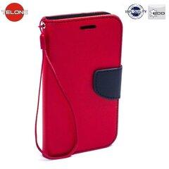 Kaitseümbris Telone Fancy Diary Bookstand sobib Huawei P8, punane/sinine