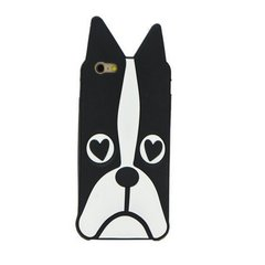 Kaitseümbris Zooky sobib Apple iPhone 6/6S, 3D Bulldog, must