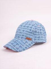 Tüdrukute pesapallimüts JO!CLUB. Sinine. hind ja info | Laste aksessuaarid | kaup24.ee