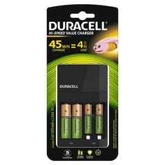 Laadija Duracell CEF14 (per 45min) +2AA +2AAA