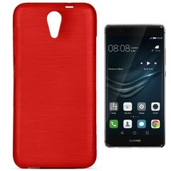 Kaitseümbris Forcell Jelly Brush Pearl sobib Huawei P9, punane