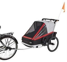 Jalgratta järelvanker 3in1 - jalgratta treiler, jooksukäru, lapsevanker. 2 istet. hind ja info | Jalgrattakärud | kaup24.ee