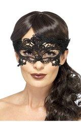 Черная кружевная маска , мягкая