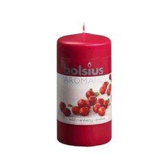 Silindriline küünal Wild cranberry, jõhvika, 12x6 cm