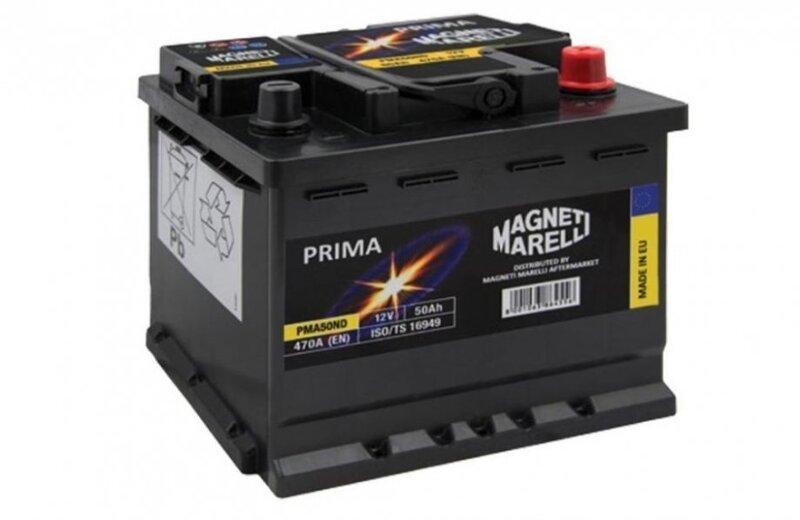 Аккумулятор MAGNETI MARELLI PRIMA 50Ah 470A