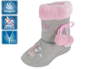 Tüdrukute sussid Beppi, roosa/hall hind ja info | Laste jalanõud | kaup24.ee