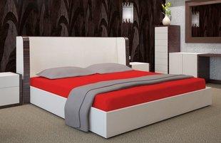 Kummiga voodilina Jersey 90x200 cm, punane