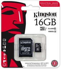Mälukaart Kingston micro SD 16GB Class 10 U1 +adapter
