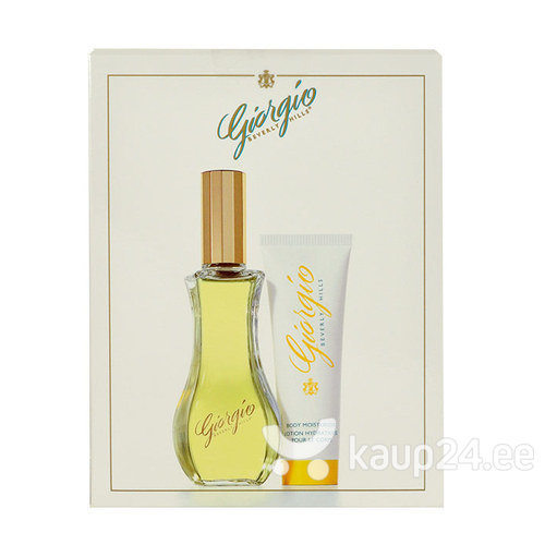 Komplekt Giorgio Beverly Hills Yellow: EDT naistele 90 ml + ihupiim 50 ml