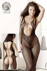 Naiste sukk-kostüüm, must V