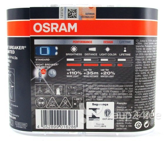 Osram Pirnid H1 12V 55W Night Breaker Unlimited