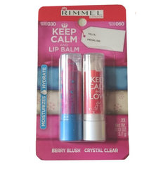 Huulepalsami komplekt Rimmel Keep Calm And Lip Balm 2 x 3.7g I