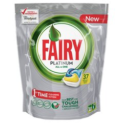 Nõudepesumasina kapslid FAIRY All in 1 Platinum Lemon, 37 tk