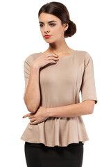 Naiste pluus MOE, helepruun I hind ja info | Naiste pluus MOE, helepruun I | kaup24.ee