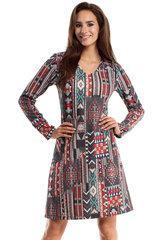 Naiste kleit MOE, hall/punane/sinine