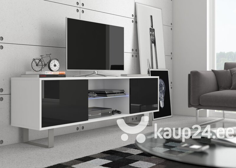 TV-laud King 2, valge/must