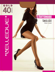 Naiste sukkpüksid Elledue Gold 40 DEN helepruun