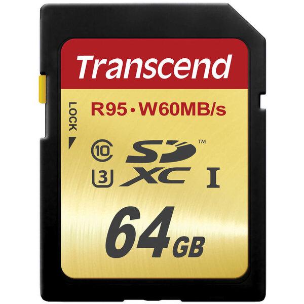 Mälukaart Transcend 64GB SDXC UHS-I U3 10 klass