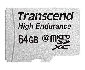 Mälukaart Transcend 64GB microSDXC 10 klass + SD adapter