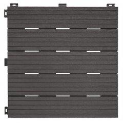Plaat COSMOPOLITAN ECO rõdudele ja terrassidele 30x30cm, hall hind ja info | Terrassipõrandad | kaup24.ee