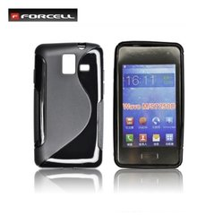 Kaitseümbris Forcell Back Case sobib Samsung Galaxy Wave M (S7250), must
