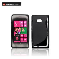 Kaitseümbris Forcell Back Case sobib Nokia 810 Lumia, must