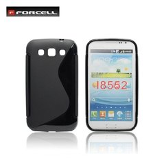 Kaitseümbris Forcell Back Case sobib Samsung Galaxy Win (i8550), must