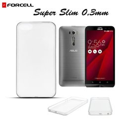 Kaitseümbris Forcell Ultra Slim 0.3mm Back Case Asus Zenfone 2 Laser ZE601KL Transaprent цена и информация | Чехлы для телефонов | kaup24.ee