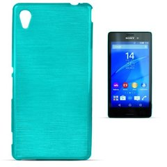 Kaitseümbris Forcell Jelly Brush Pearl Back Case sobib Sony Xperia M4 Aqua, sinine