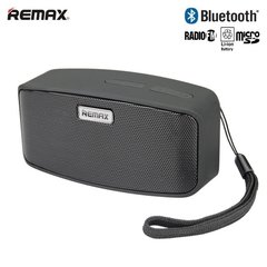 Remax RM-M1 Bluetooth 3.0 Compact 6W Portable Music Box Speaker + FM Radio + MicroSD Black