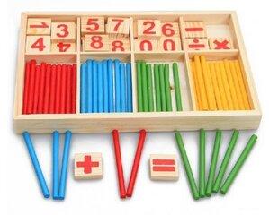 Puidust arvutamiskomplekt Pareto hind ja info | Arendavad mänguasjad 3+ | kaup24.ee