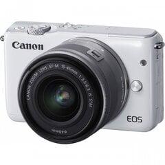 Digikaamera Canon EOS M10 + M15-45S , valge