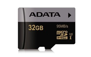 Mälukaart A-Data 32GB Premier Pro microSDHC Class 10 UHS-I U3 + adapter 95MB/s
