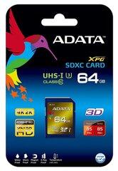 Mälukaart A-Data 64GB XPG SDXC UHS-I U3 Class 10, 95/85MBs