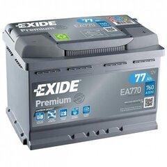 Аккумулятор EXIDE EA770 77Ah 760 A EN 12V