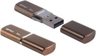 Mälupulk Silicon Power LuxMini 720 16GB 2.0, pronks