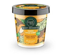 Nahka uuendav kehakoorija Organic Shop Body Desserts Mango Sugar Sorbet 450 ml