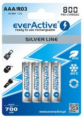 Akud everActive Silver Line Ready to Use 800mAh AAA, 4 tk