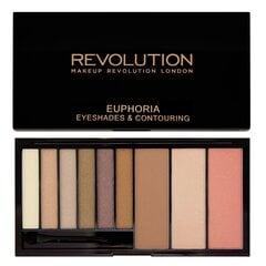Näo kontuurimis- ja lauvärvipalett Makeup Revolution London Euphoria 18 g