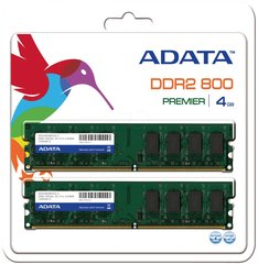 A-Data 4GB 800MHz DDR2 CL5 KIT OF 2 AD2U800B2G5-2