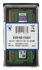 KINGSTON DDR3-1600 4GB SO-DIMM CL11 цена и информация | KINGSTON DDR3-1600 4GB SO-DIMM CL11 | kaup24.ee