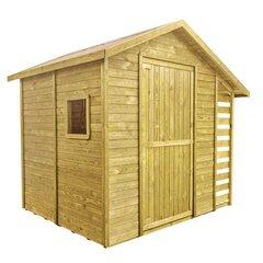 Деревянный домик для инструментов, садовой техники, велосипедов и других вещей.