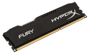 Kingston 8GB DDR3 PC12800 CL10 DIMM HyperX Fury Black HX316C10FB/8 hind ja info | Operatiivmälu (RAM) | kaup24.ee