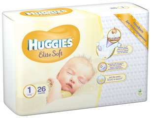 Mähkmed HUGGIES Elite Soft Suurus 1, 26tk