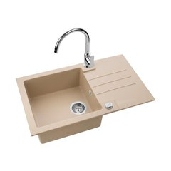 Graniit valamu Alveus Rock 130 + segisti Grohe Start Edge